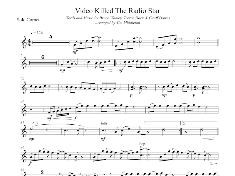 Video Killed The Radio Star (Brass Band)